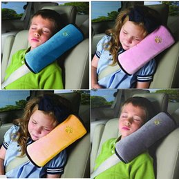 Wholesale Baby Children Car Auto Safety Seat Belt Soft Harness Shoulder Pad Cover Children Protection Covers Cushion Support Pillow Seat Cushions DHL