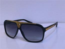 Hot women sunglasses online shopping - hot men brand designer sunglasses millionaire evidence sunglasses retro vintage shiny gold summer style laser logo Z0350W top quality