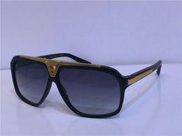 Wholesale designing logos for sale – custom hot men fashion design sunglasses millionaire evidence sunglasses retro vintage shiny gold summer style laser logo Z0350W top quality