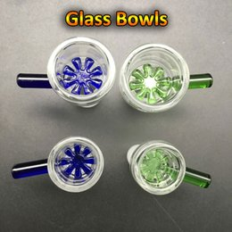 Oil Filters Wholesale Free Shipping Canada - Free DHL Shipping!!! 14mm 18mm Glass Bowls Female Male colorful bowl With Snowflake Filter Ashcatcher Glass Hookah Bowl for Glass Oil Rigs