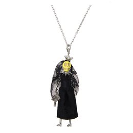 Chinese  Wholesale Halloween Doll Necklace Pendants New Fashion Skull Doll KeyChains Pendant Bag Charms Jewelry Women Styles Accessories Gifts Top manufacturers