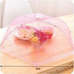 $enCountryForm.capitalKeyWord Canada - Gauze Folded Dish Fruit Vegetable Food Covers Anti Flies Mosquito Kitchen Polyester Gauze Cooking Foods Covers