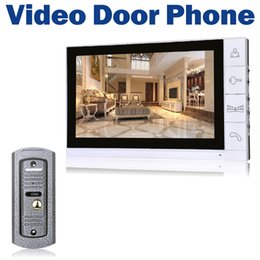 "$enCountryForm.capitalKeyWord Canada - 9"" LCD Monitor Wired Video Door Phone 700TVL IR Camera Night Vision Key Button Doorbell Intercom System"