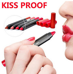 kiss proof lip matte Australia - Menow Kiss Proof Lipstick Waterproof Soft Lip Crayon Makeup Lip Matte Finish Long Lasting Lipstick Pen 19colors