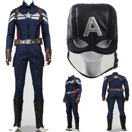 $enCountryForm.capitalKeyWord Canada - Custom Made HOT Poplar Captain America 2 Winter Soldier Captain Steven Rogers Cosplay Costume Mens Suits Halloween Any Size