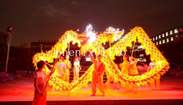 dragon lights Canada - 10 m size 3 For 6 people Chinese Spring Day Yellow Dragon Gold-Plated Light DRAGON DANCE ORIGINAL Dragon Folk Festival Celebration Costume