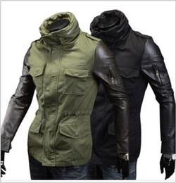 Mens green jacket black sleeves
