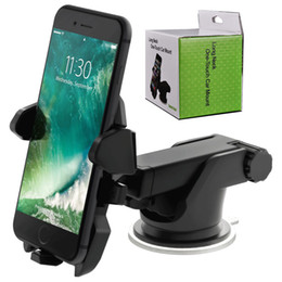 Suction cupS phone holder online shopping - New Long Neck One Touch Car Mount Holder Suction Cup For Mobile Phone iPhone s Plus s Samsung Galaxy S8 Note