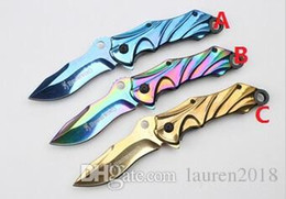 browning knives 2019 - free shipping browning B49 color titaninum 7cr17blade pocket knife folding knfe rescue knife camping knife fruit knife d