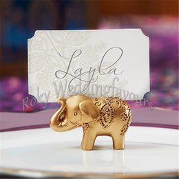 $enCountryForm.capitalKeyWord NZ - REE SHIPPING 100pcs Good Luck Elephant Place Card Holder Favors Party Gifts Name Card Holder Event Supplies Anniversary Table Decoration