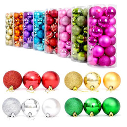$enCountryForm.capitalKeyWord Australia - 2017 Christmas Tree Balls Ornaments Shatterproof Balls 24Pcs Trees Wedding Parties Mini Tree Decorations For Holiday With Muticolor