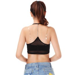 Barato Hot Cami Lingerie-Atacado-HOT New Women Ladies Sexy Modal Bralette Top blusa curta Lingerie Vest Cop Tops Tanques cami nuisette Underwear BlackWhite Z1