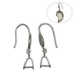925 sterling silver component online shopping - Beadsnice Sterling Silver Pinch Bail Earring Wire Platinum Plated French Hook Findings Earring Components ID