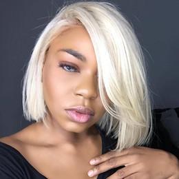 "$enCountryForm.capitalKeyWord NZ - 613 Wig Human Hair Bob Wigs Full Lace Blonde Wigs Can Be Dyed Short Cut Bob Natural Straight 10""-18"""
