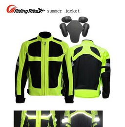 Breathable Summer Motorcycle Jackets Australia - 2016 men's summer fluorescein motorcycle riding jacket, Riding-Tribe Lucifer Yellow clothes motorcycle racing suits drop resistance