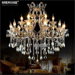 discount hotel lobby led chandeliers maria theresa crystal chandelier light cognac led crystal lustre 18 light - Discount Chandeliers