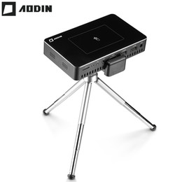 Data show Dlp projector online shopping - AODIN M9 G Pico mini Projector hd Smart Multi touch DLP Portable Projectors LED Pocket Projector WIFI home theater data show