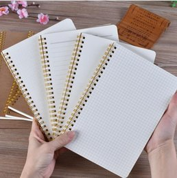 Dots Gift Paper Canada - New style cowhide paper notepads Accounts Recording book Financing nootebook grid books drawing Art Design dot notepad journal coils book