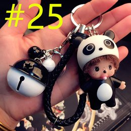 cars korea NZ - South Korea creative cute cute odd key chain men and women car key chain rings couples bags wholesale pendant with bells CM140