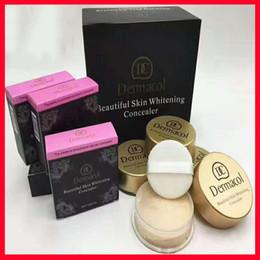 Dermacol Shinny Face Powder Polvo prensado Nude Smoky Face 4 Color Foundation Dermacol cubierta de maquillaje Extreme Covering Foundation