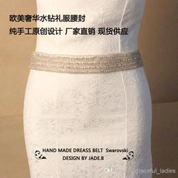 Luxury Rhinestone Beaded Wedding Dress Canada - Luxury Wedding Belts With Rhinstone Beaded Belt For Wedding Dress Bridal Sashes Wedding Sash With Rhinestones Crystal Sash For Wedding Dress