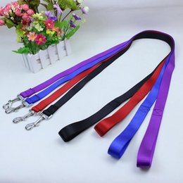 Medium Dog Collars Leashes Canada - 120cm long high quality nylon dog pet leash lead for seat belt harness lead for cat dog collar pets dog collars leashes leash fast shipping