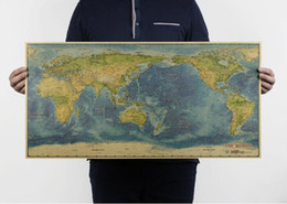Painting world map wall nz buy new painting world map wall online 300pcs large retro world map kraft paper paint vintage wall sticker poster living room art crafts bar cafe pub 725x355cm za0934 gumiabroncs Image collections