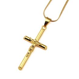 7e88cacfbd1ec3 Design golD necklace men online shopping - Men Jesus Cross Necklaces k Gold  Plated Fashion Hip