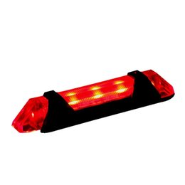 China Super Bright Mini Bike Rear Lights 5 LED Bicycle Helmet Tail Light USB Rechargeable Waterproof Built-in Battery cheap super mini bikes suppliers