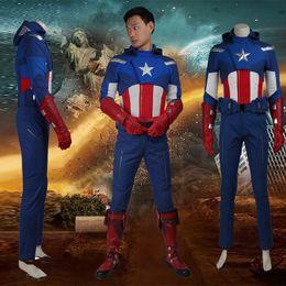 $enCountryForm.capitalKeyWord Canada - 2016 Movie The Avengers 1 Captain America Cosplay Costume Steve Rogers Adult Superhero Halloween Whole Set