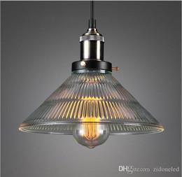 Loft Hanging Lights Art Glass Chandelier Vintage Antique Pendant Warm Iron Edison Lamps Fixtures