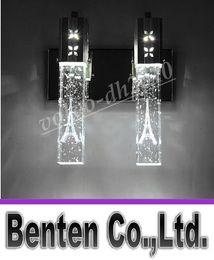 $enCountryForm.capitalKeyWord Canada - NEW Modern 5W LED Crystal Bubble Wall Lamp Crystal Cylinder Shape Column Living Room Wall Lamp Mirror Light RGB Warm White Chandelier Light