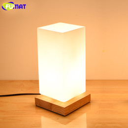 FUMAT Wood Glass Shade Table Lamps For Bar Restaurant Study Bedroom Table  Lamp Dimmer Bedside Light Nordic Simple Desk Lamp Vintage Table Lamp Shades  ...
