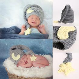 Crochet Babies Props NZ - Newborn Photography Props Handmade Baby Girls Boys Crochet Knitted Soft Hat Beanie Cap Infant Photo Props Accessories 0-4 Months