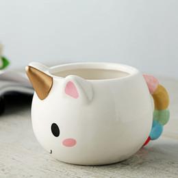 $enCountryForm.capitalKeyWord NZ - 3D Unicorn Hand-painted Cups Cute Cartoon Cups 300ml Cooper Ceramic Coffee Cup Mugs Office Breakfast Mug Girl Birthday Gift Drop Shipping