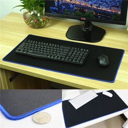 pro pad black Australia - 5PCS 600*300MM Large Pro Ultra Large Rubber Keyboard Mat Professional Gaming Mouse Pad Mat Locking Edge Keyboard Table Mat For PC Laptop