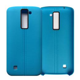 Cheap Lg Cases Canada - fashion Ultrathin line TPU Soft PU leather matte case cover skin for LG K7 cheap case