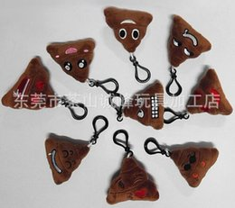 Discount face dolls - New emoji Cute Shits Poop Key Chains Small pendant Stuffed Plush doll toy for Mobile bag pendant