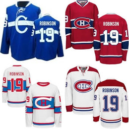 c68962b8851 ... Jersey Hot Sale Cheap Montreal Canadiens 19 Larry Robinson Blue Red  White Best Quality 100% Embroidery ...