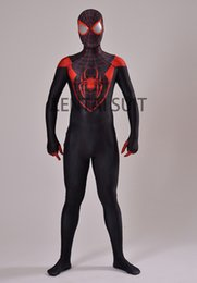 $enCountryForm.capitalKeyWord UK - Ultimate Miles Morales Spider-Man Costume 3D Printing Spandex Lycra Fullbody Spiderman Costume For Halloween Cosplay Hot Sale Free Shipping