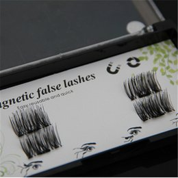 Plastic Black Magnets Canada - 3D magnet false eyelash suction stone mascara magnetic magnetic buckle without glue three-dimensional multi-layer thick