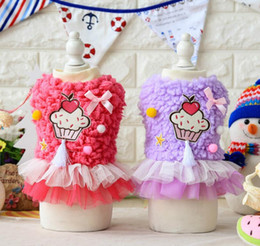 Classic Wear T Shirts Canada - FAFA Pet Products Supplies Dog Clothes Wear Apparel Princess Lace Dress Coat T-shirt Fashion New Arrival Hot Sale 17ZF100