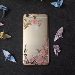 Custodia in TPU placca morbida per Iphone 7 Plus I7 OPPO R9 Huawei P8 P9 Lite 6 7 8 5A 5C 5X Diamante Bling Secret Garden Flower Copertura a farfalla