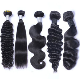 China Brazilian Peruvian Malaysian Indian Virgin Human Hair Weave Bundles Body Wave Straight Loose Deep Wave Kinky Curly Remy Hair Natural Color supplier remy loose body wave weave suppliers