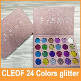 Flash De L'ombre Des Yeux Pas Cher-En Stock 2017 Nouvelle marque CLEOF Cosmétiques Flash Eye Shadow Palette Glitter Powder 24 Color Maquillage Eye Shadow Palette DHL Livraison gratuite