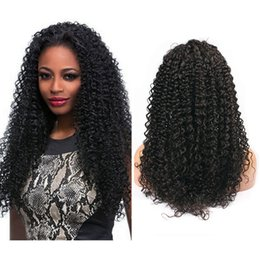 2018 new fashion hairstyles new Fashion Kinky Curly Natural Hairline Full Lace Wigs Unprocessed Malaysian Human Hair wigs Lace front Wig For Black W