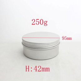 $enCountryForm.capitalKeyWord Canada - 250g empty aluminum metal tin cans with lids ,round aluminum containers ,empty cosmetic containers,metal cream container box