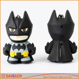 $enCountryForm.capitalKeyWord Canada - Superhero Batman Led Keychain Flashlight Pendant Key Chain Ring Cute Action Figure Keyrings Keychains Cool Gift