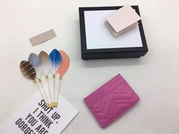 708e94823 Venda quente marca de luxo mulheres zero carteira saco de cartão de  ondulação da água saco