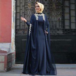 New Design Arabic Evening Dresses Fashion Abaya Dubai Long Sleeve Muslim  Party Prom Gowns 2016 Moroccan Kaftan Vestidos de Gala def27374ee26